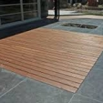 terrasse bois et ardoise